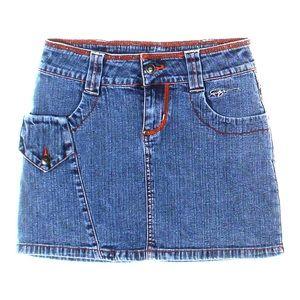 FUBU mini denim skirt